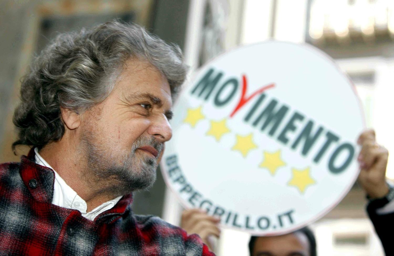 Beppe Grillo, leader i Lëvizjes 5 Yjet